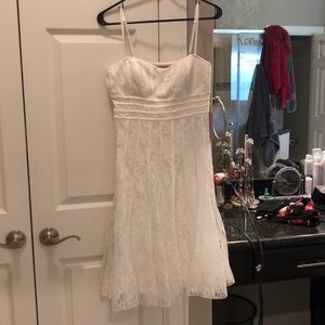 JS Collections Size 8 White Dress